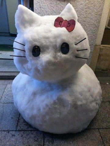一番町の雪だるま